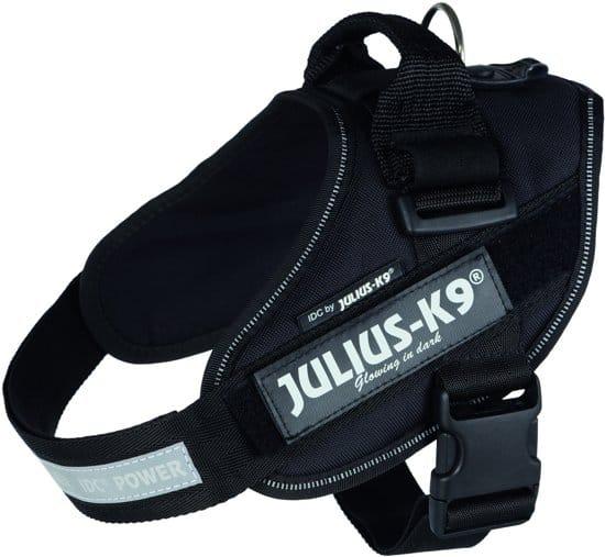 Julius K9 IDC Power-Harnas/Tuig Voor Labels - Zwart - 58-76 cm