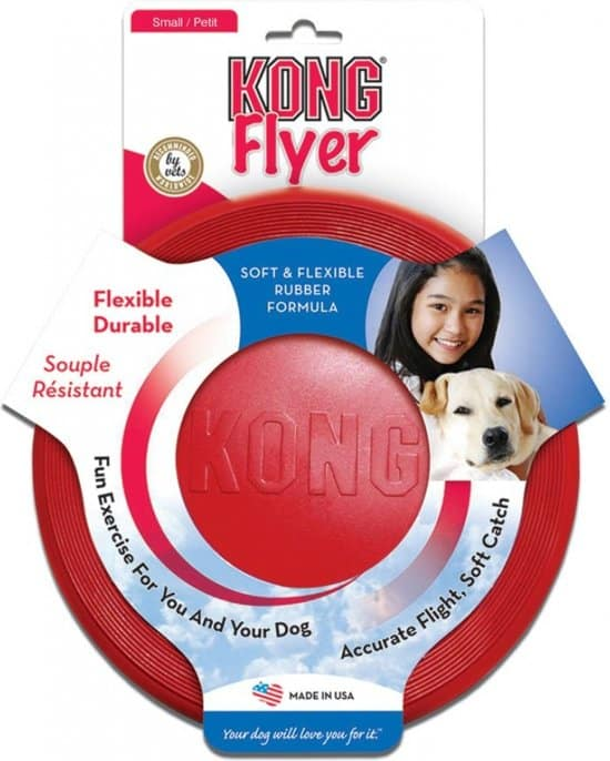 Kong Flyer Frisbee - Hondenspeelgoed - Rood -  Ø25 cm