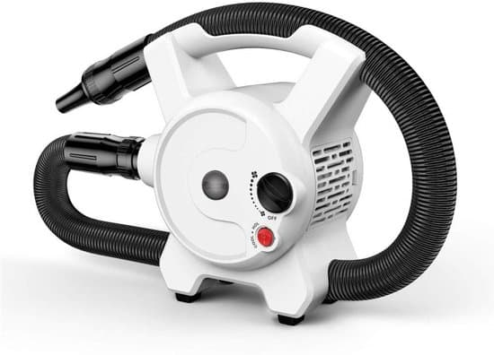 Qumax Krachtige Hondenfohn - Waterblazer - Voor Een Gezonde vacht - Warme en Koude Blaasfunctie - Inclusief 3 Opzetstukken - Wit