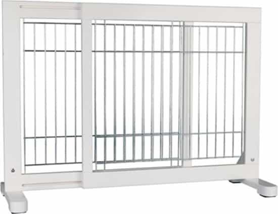 Trixie Afsluithek Uitschuifbaar - Wit - 65-108 x 61 cm