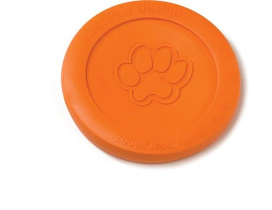 Zogoflex Zisc Honden Frisbee Tangerine - S - Oranje