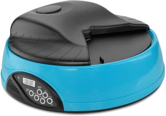 Lucky Paw Automatische Voerbak voor Hond en Kat - Voerautomaat 6 Maaltijden - Blauw