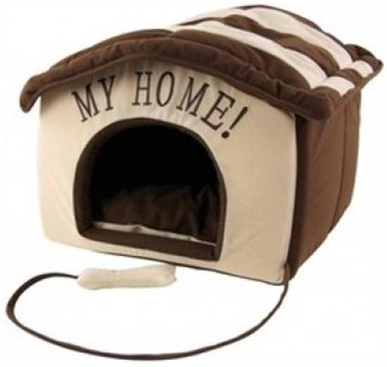 My Home Honden/Katten huis 40x40xH40 cm Bruin/Creme