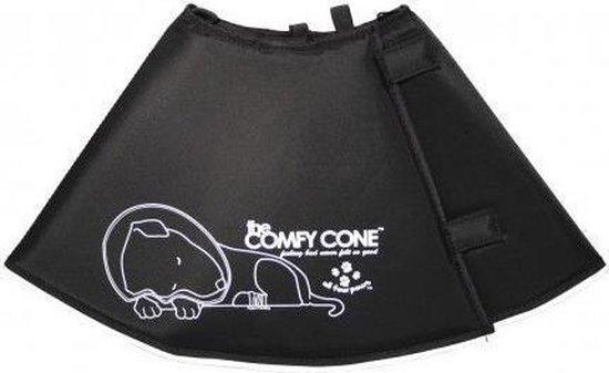 Comfy Cone Hondenkap Zwart L 38-46CM / 25 CM HOOG