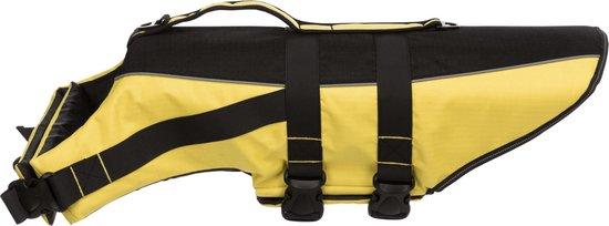 Trixie zwemvest geel / zwart 50-80x55 cm