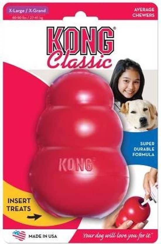 Kong Kauwbot - Hondenspeelgoed XL - Kauwspeelgoed - 150mm x 85mm x 79mm - Rood