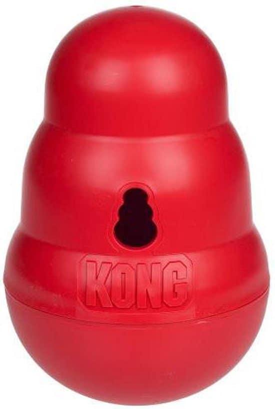 Kong Snack Dispenser Wobbler - Kauwspeelgoed - 190mm x 130mm x 122mm - Rood