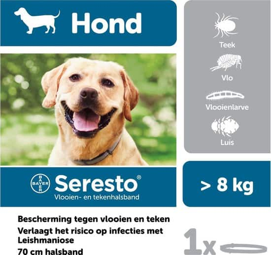 Seresto Vlooien En Tekenband - Grote Hond - >8 kg
